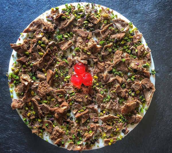 Preparazione Cheesecake cannolo con ricotta siciliana senza cottura