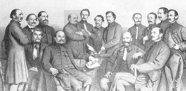 Professori della scuola di medicina di Pest, 1863 e Semmelweis