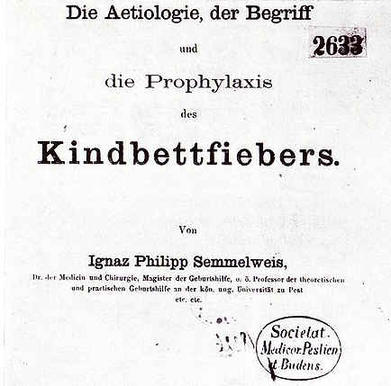 Copertina del libro di Semmelweis