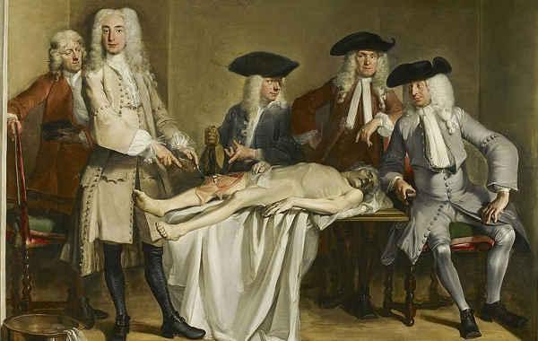 Cornelis Troost, La lezione di anatomia del dottor Willem Röell, 1728