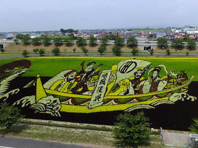 Arte Tanbo o arte della risaia, in inglese Paddy Art