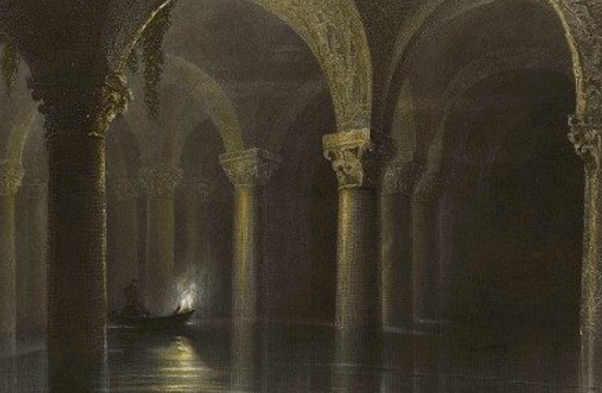 Esplorazione del Yerebatan Sarayı Palazzo sommerso, quadro