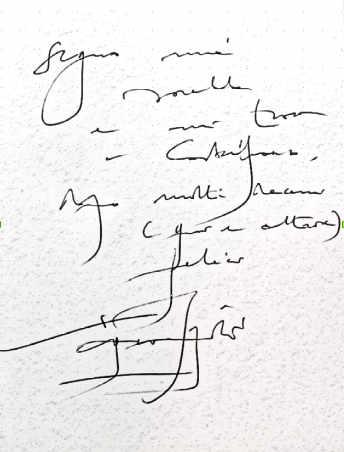 La scrittura: analisi della grafia di Vittorio Sgarbi