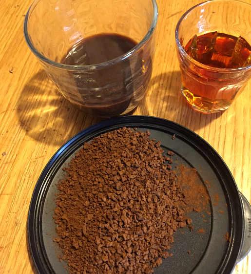 Ingredienti del Semifreddo al caffè e cioccolato fondente con granella di nocciole senza glutine