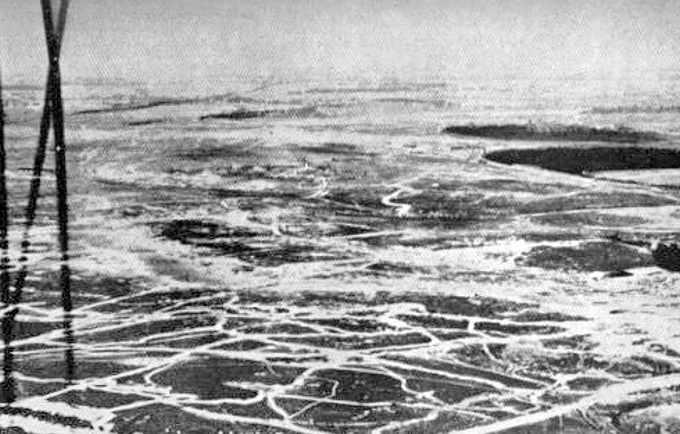 Fotografie aerea della battaglia della Somme