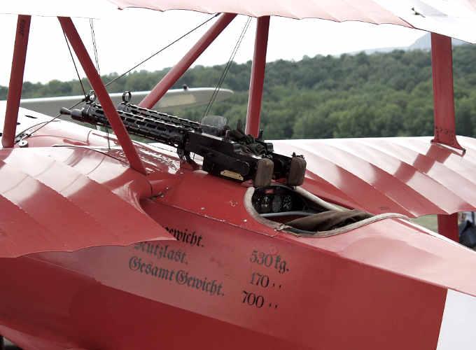 La mitragliatrice del leggendario Barone Rosso che vinse 81 combattimenti aerei