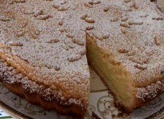 Torta della nonna senza glutine ricetta semplice con crema pasticcera e pinoli