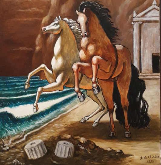 Particolare di quadro alla Mostra di Giorgio De Chirico 8
