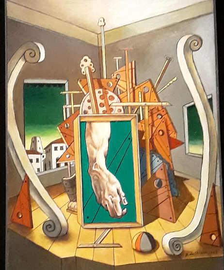 La Mostra di Giorgio De Chirico:  Studio di braccio per una figura della Volta Sistina
