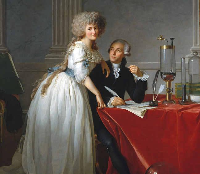 Ritratto di Lavoisier con la moglie, di Jacques-Louis David (1788)