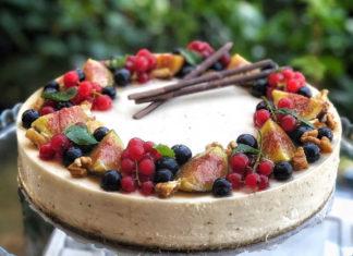 Cheesecake con mascarpone e confettura di fichi senza cottura