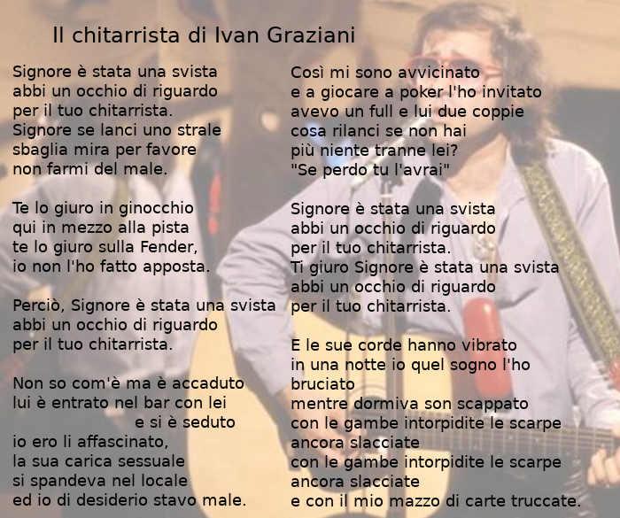 Testo di Il chitarrista di Ivan Graziani
