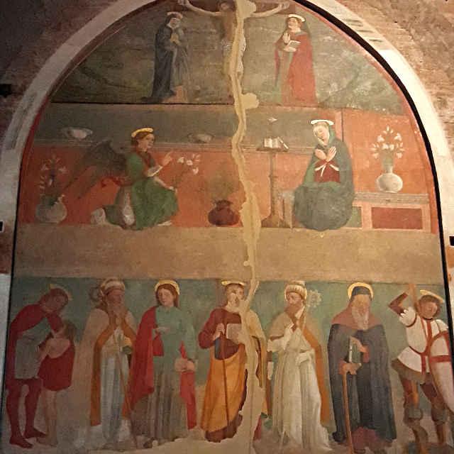 Il grande affresco della scuola degli Erri, abbazia di Nonantola