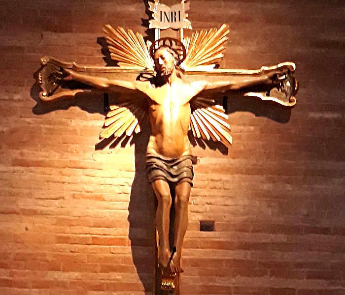 Crocifisso ligneo, Abbazia di Nonantola