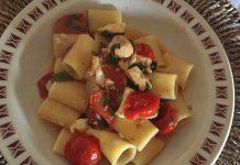 Paccheri con la spigola pomodorini e rucola senza glutine