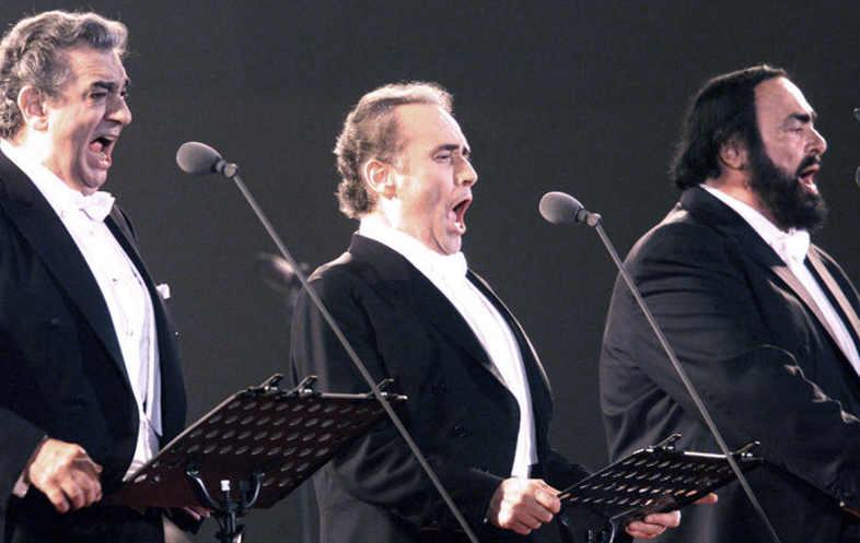 I Tre Tenori: Plácido Domingo, José Carreras e Luciano Pavarotti