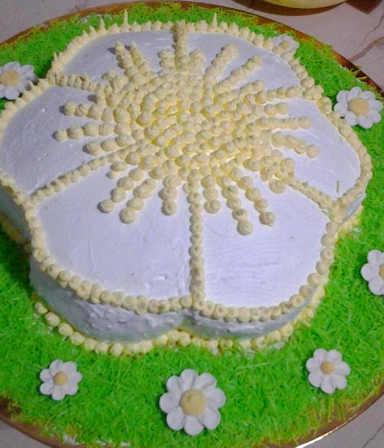 Preparazione della Torta con mousse alla Nutella a forma di Margherita con e senza glutine