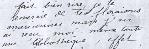 Campione di scrittura di Camille Claudel