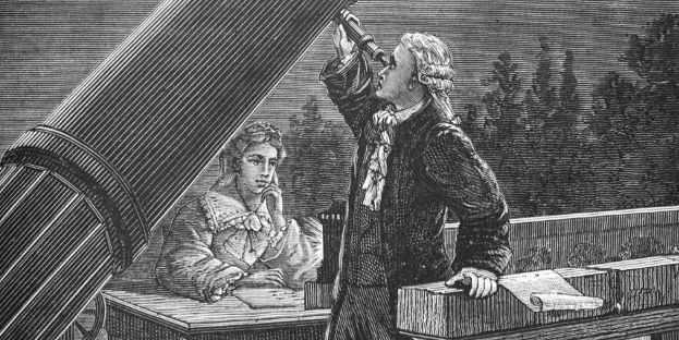 Gli astronomi William e Caroline Herschel