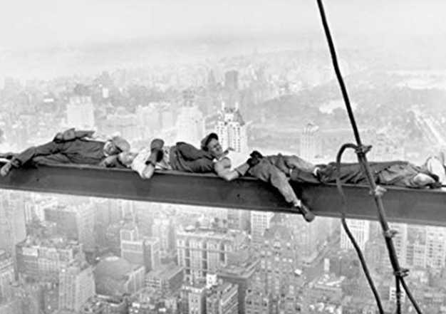 Men Asleep on a Girder