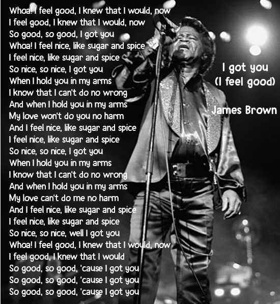 Testo di I got you (I feel good) di James Brown