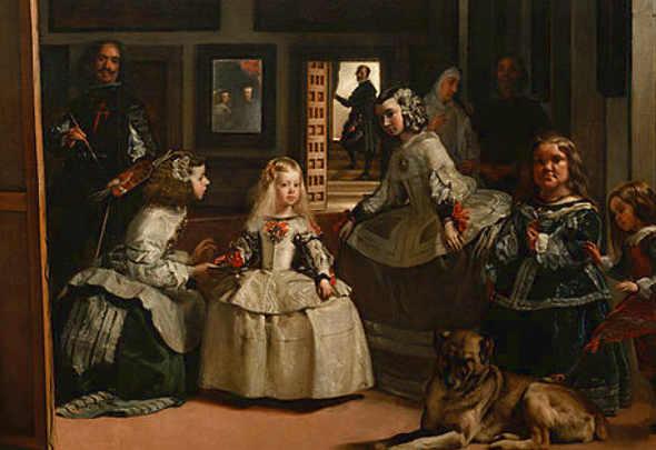 Las Meninas di Velázquez nel celebre quadro con la figura di Maria Barbara Asquin (Mari Barbola)