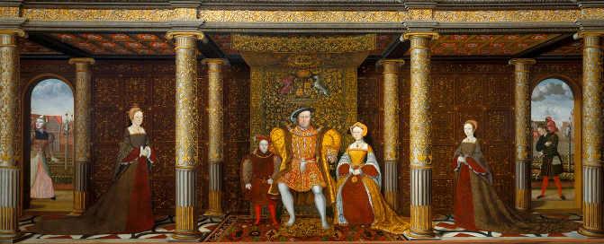 ritratto di Enrico VIII e la sua famiglia