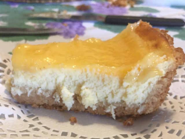 Ricetta Cheesecake Ricotta e Mascarpone Cotta con Crema al Limone Senza Glutine 2