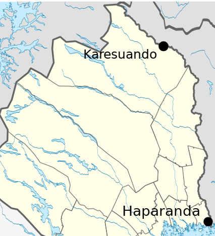 Karesuando e Haparanda le città fra Svezia e Finlandia