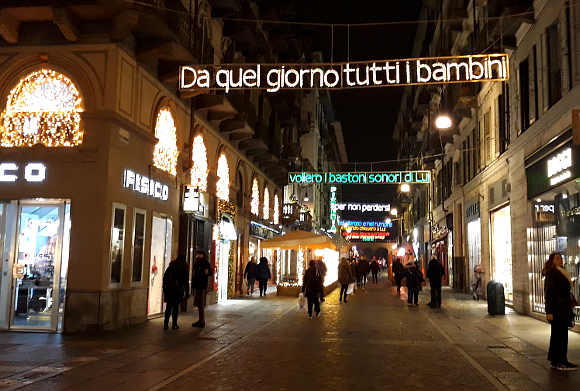 2019-2020 Luci d'artista a Torino: Via Lagrange 2