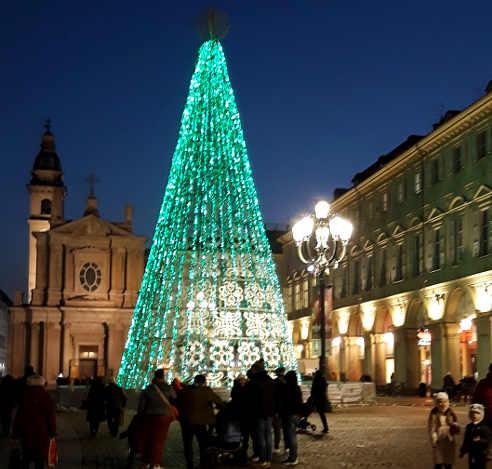 Le Luci d'artista a Torino: Piazza San Carlo 3