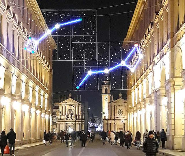 2019-2020 Luci d'artista a Torino: via Roma