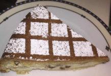 Crostata di ricotta e gocce di cioccolato senza glutine sottosopra
