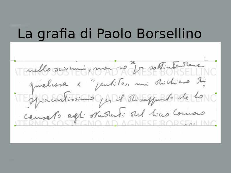 Analisi grafologica dellegrafia di Paolo Borsellino