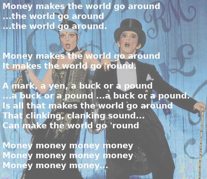 Testo di Money, Money cantata da Liza Minnelli e Joel Grey