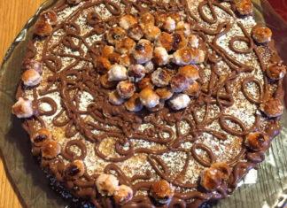 Torta (o Crostata morbida) con ricotta nocciole e noci ricetta senza glutine