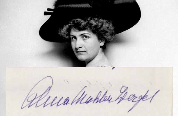 La firma Alma  Maria Schindler