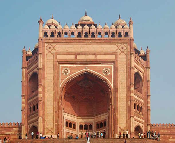 Fatehpur Sikri, ingresso: l'imponente Buland Darwaza