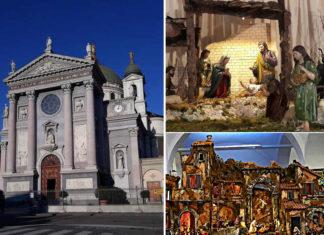 La bellissima mostra di presepi nello splendido Santuario di Maria Ausiliatrice a Torino