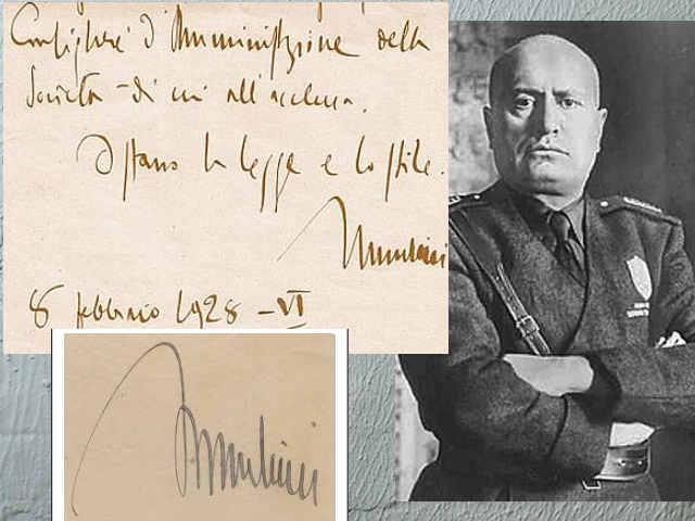 La sindrome di Hubris nella scrittura: Benito Mussolini