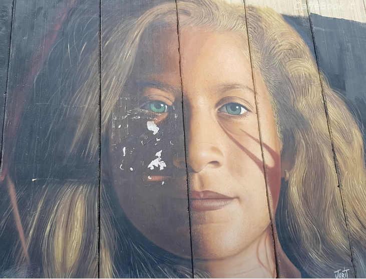 I Murales Palestinesi Ahed Tamimi di Jorit Agoch