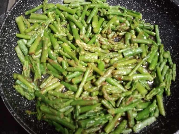 Preparazione degli asparagi
