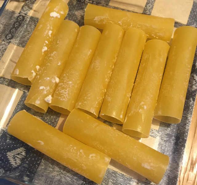 Ungete i Cannelloni senza Glutine ricotta e spinaci freschi