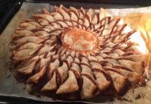 Ricetta Girasole di Pasta Sfoglia Senza Glutine con Nutella e granella di nocciole