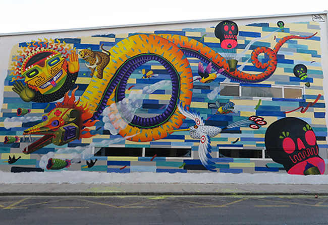 Spaik Israel Guerra Romero murales e folklore del Messico
