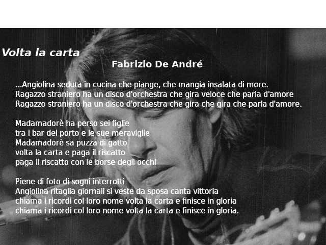 Volta la carta, Fabrizio De André 2