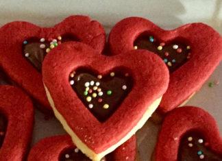 Biscotti Bicolori a forma di Cuore senza glutine