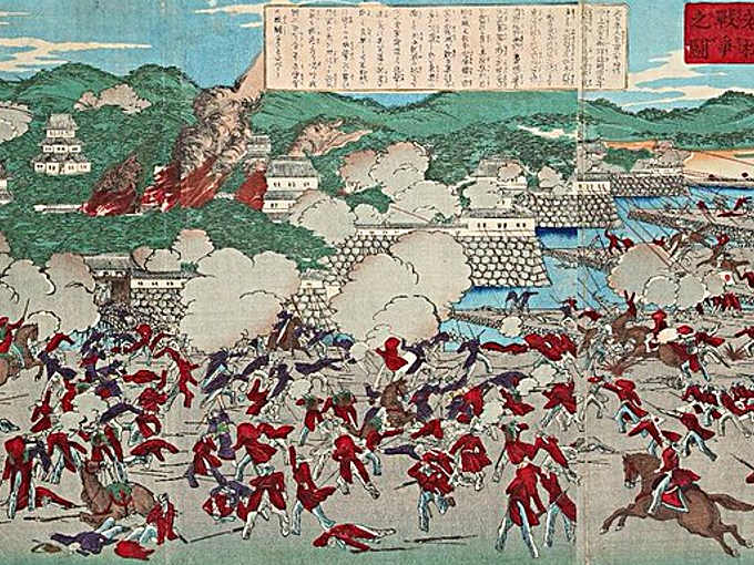 La battaglia di Aizu, attacco al castello di Kurokawa (Aizu-Wakamatsu)