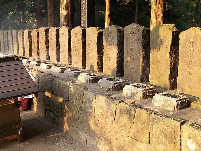 Altare sulla collina di Limori dedicato ai Byakkotai