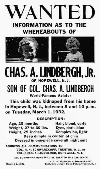 Rapimento Lindbergh: le ricerche del bambino